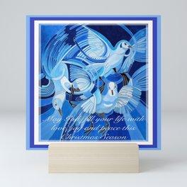 Love, Joy and Peace This Christmas Season Greeting  Mini Art Print