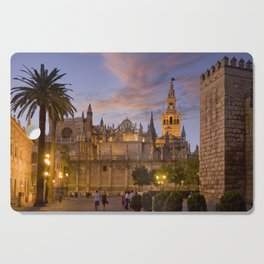 Seville, The Cathedral at dusk Cutting Board