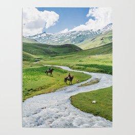 Kyrgyz River Valley Poster