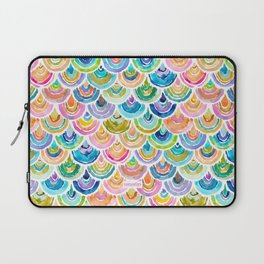 STRANGEBOW Rainbow Mermaid Scallop Laptop Sleeve