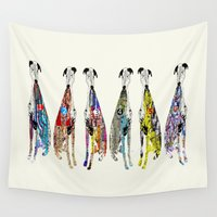 greyhound Wall Tapestries featuring greyhound racers by bri.buckley