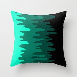 Splash of colour (green) Throw Pillow