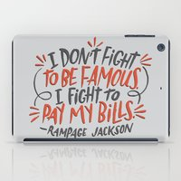 percy jackson iPad Cases featuring Rampage Jackson by Josh LaFayette