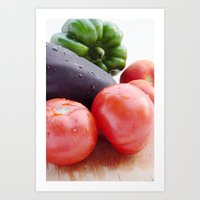 vegetables Art Prints featuring Vegetables by Carlo Toffolo