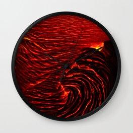 Lava Spiral Wall Clock