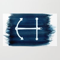 anchor Area & Throw Rugs featuring Anchor by Bridget Davidson
