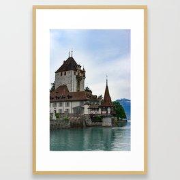 Castle on the lake Framed Art Print