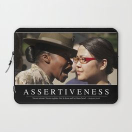 Assertiveness: Inspirational Quote and Motivational Poster Laptop Sleeve