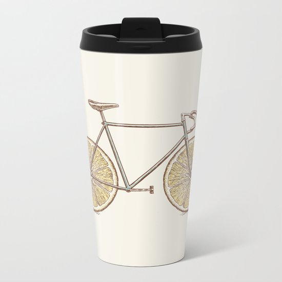 Velocitrus (color version) Metal Travel Mug