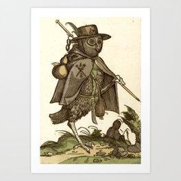 Owl dressed as a pilgrim 1550 Art Print