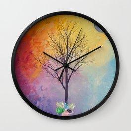Chakra Tree of Crystals Wall Clock