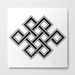 Endless Knot Metal Print