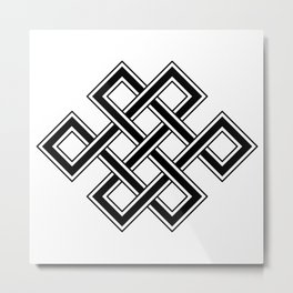 Endless Knot Metal Print