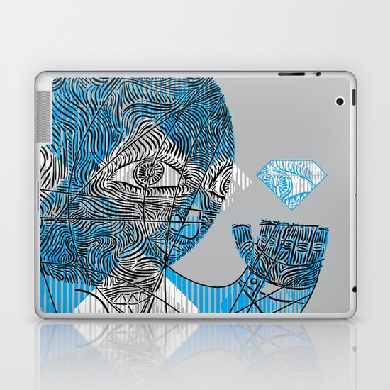 mesmerized by the light blue diamond Laptop & iPad Skin