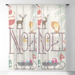 Christmas Noel Sheer Curtain