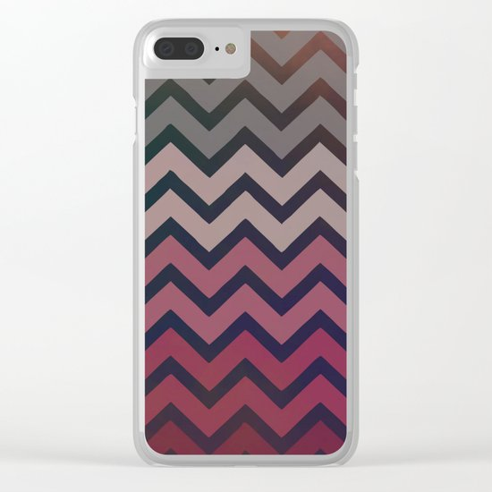 Pink Chevron Clear iPhone Case