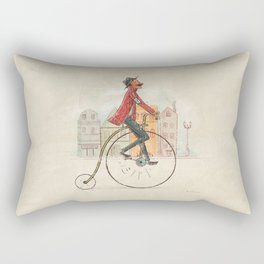 Old cycling Rectangular Pillow