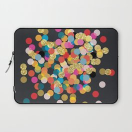 Gold & Colorful Confetti Laptop Sleeve