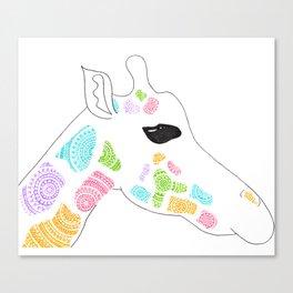Giraffe Circle Art Canvas Print