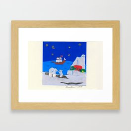 Arctic Holiday Framed Art Print