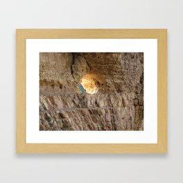 The Light in the Wall Framed Art Print