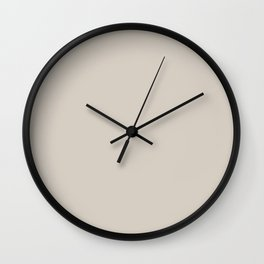 Linen Off White Solid Color Pairs To Sherwin Williams 2021 Trending Color Modern Gray SW 7632 Wall Clock