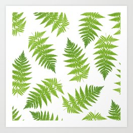 Fern seamless pattern. Art Print