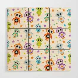 Fun Robots for Kids of All Ages Wood Wall Art