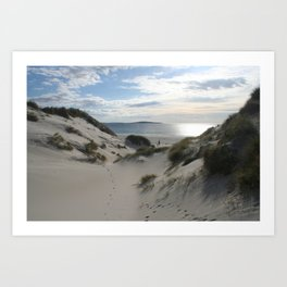 Sand dunes on Berneray. The Outer Hebrides, Scotland. Art Print
