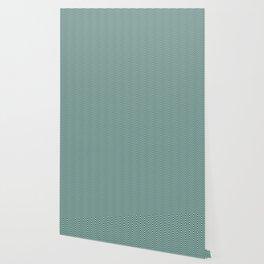 Mint Green black and White Eye buster Chevron Wallpaper