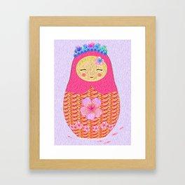 Russian Doll Kinder Print Framed Art Print
