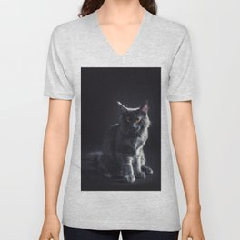Maine Coon Cat Unisex V-Neck