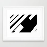 stripe Framed Art Prints featuring stripe by noirblanc777