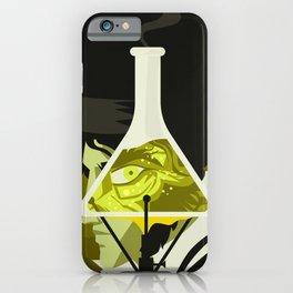 monster sci fi test lab transformation iPhone Case