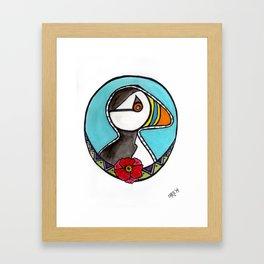 Pippa's Puffin Pal Framed Art Print