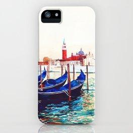 Gondolas in Venice iPhone Case