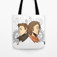 winchester Tote Bags featuring Winchester Bros by PotatoCrisp