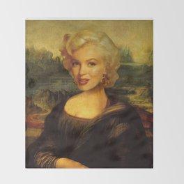 Mona Lisa & Marylin Throw Blanket