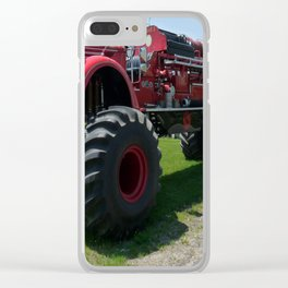 Real Big Fire Truck Clear iPhone Case