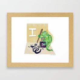"""""""I"""" Framed Art Print"""