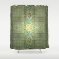 wooden Shower Curtains featuring Wooden Pattern by Barruf designs