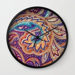 Summer paisley Wall Clock