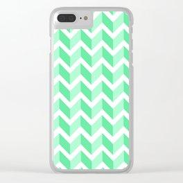 ERIN ((seafoam green)) Clear iPhone Case