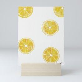 Watercolor Lemon Slices Mini Art Print