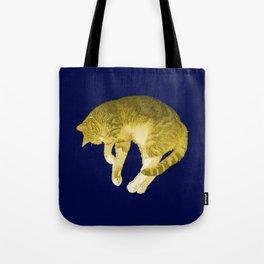 Beautiful Yellow Cat Illustration Tote Bag