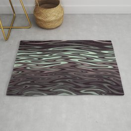 Ripples Fractal in Mint Hot Chocolate Rug