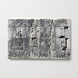 Chichen Itza Maya Inscription Metal Print