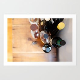 Bottle Caps and Corks Art Print