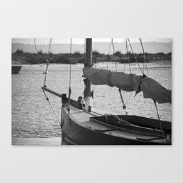 Little sailboat. Canvas Print