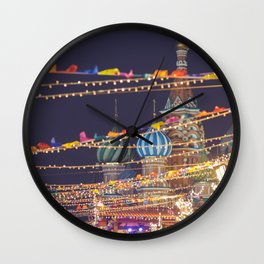 St Basil Cathedral on Red Square in Christmas and New Year, Moscow, Russia Wall Clock